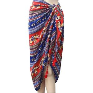256ae857e7 Swim | Red Elephant Sarong Cover Up | Poshmark